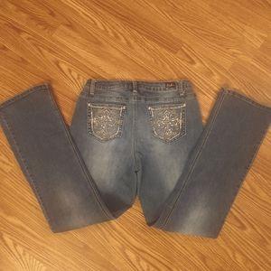 EARL distressed slim bootcut jeans